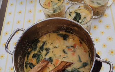 Fresh orzo soup