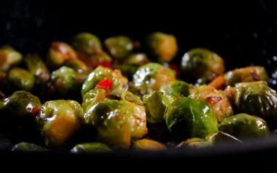 Stir fried Brussels sprout