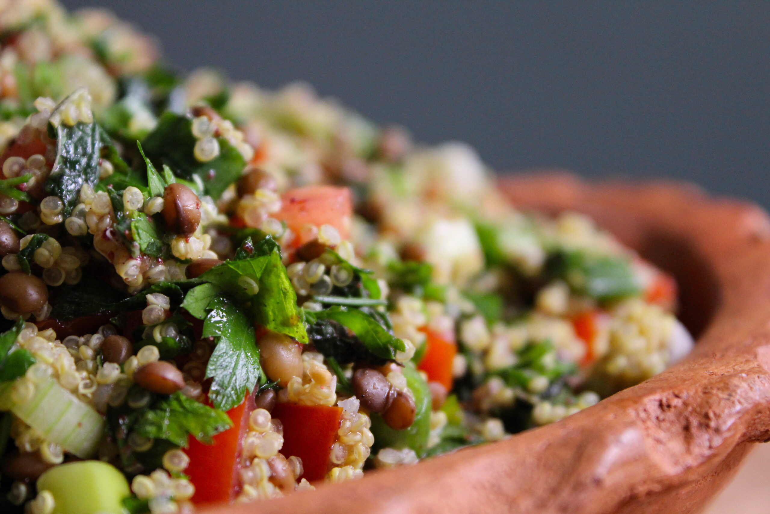 Salad of lentils and quinoa