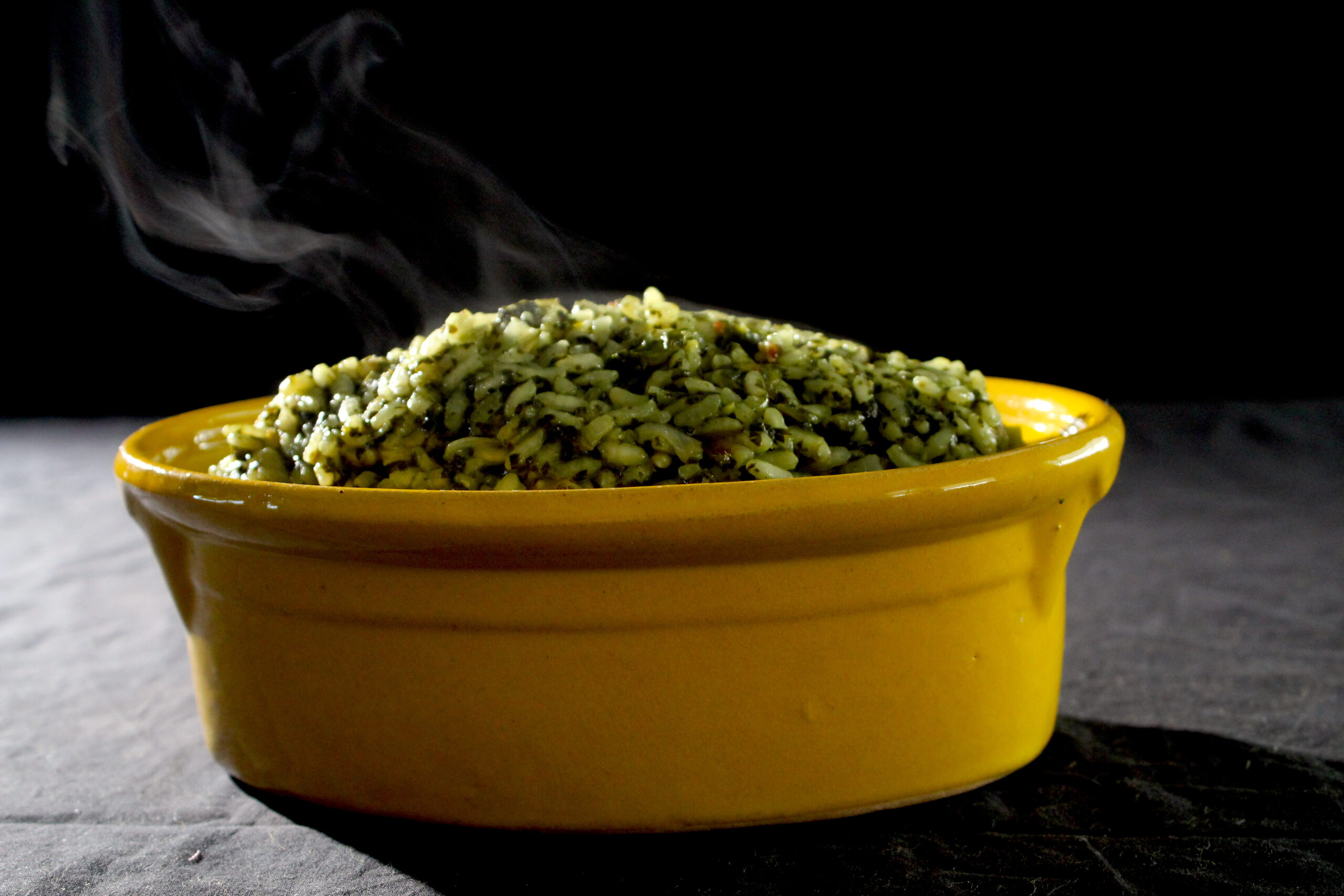 Risotto of spinach and coriander
