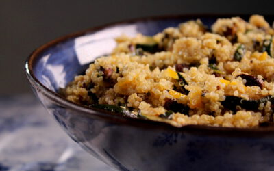 Quinoa salad with zucchini and …