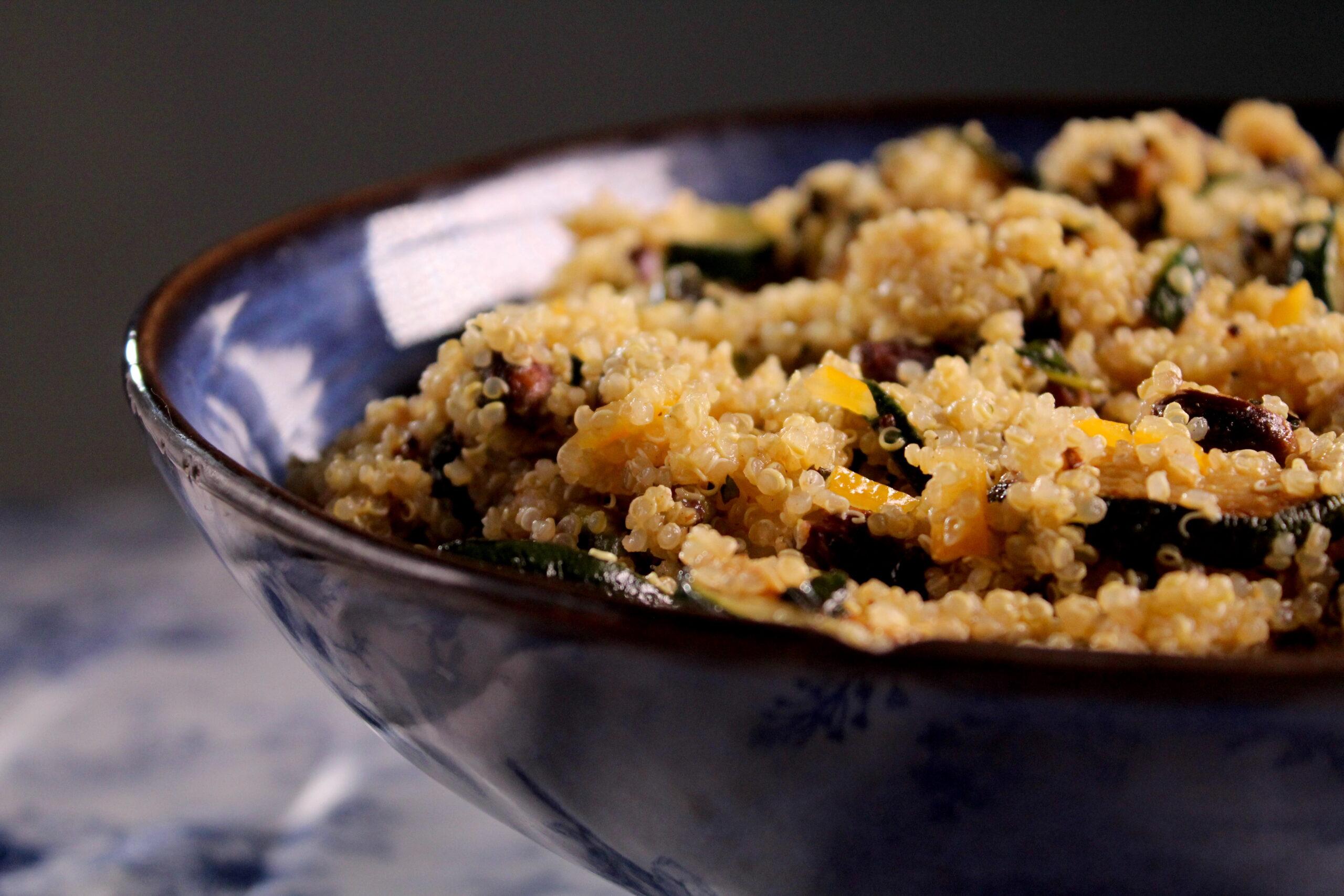 Quinoa salad with zucchini and ...