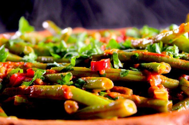 Moroccan green beans à la Fatim-Zahra