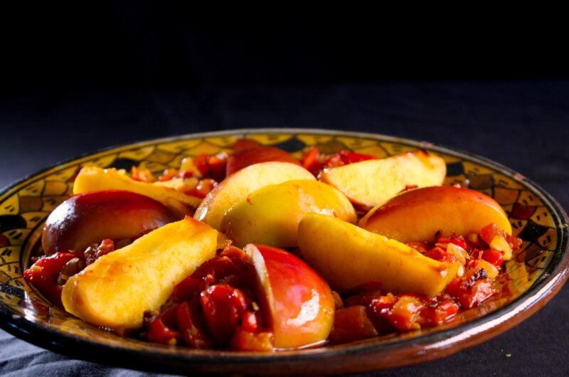 Geroosterde paprikasalade met appel