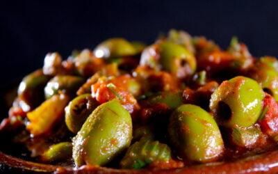 Moroccan braised spicy celeriac