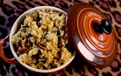 Quinoa risotto with mushrooms