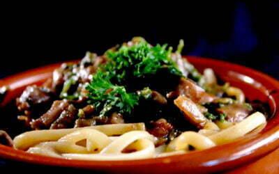 Spaghetti with the truffle sauce