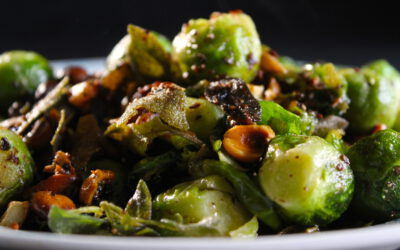 Brussels sprout and hazel nuts