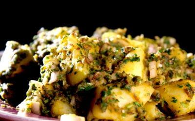 Pittige Marokkaanse aardappelsalade