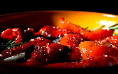 Gebakken rode paprika