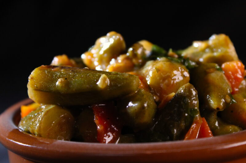 Okra's in tomatensaucs