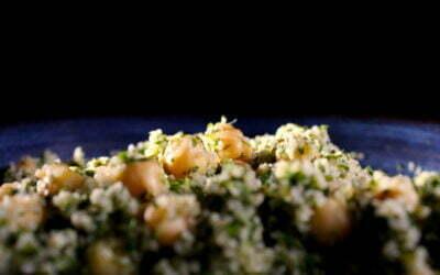 Very fresh and very Arab bulgur chick pea salad