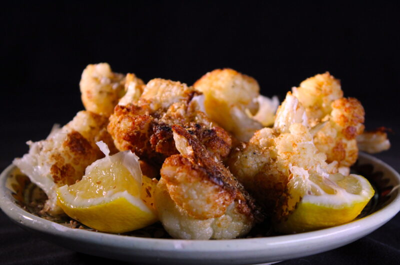 Crunchy spicy cauliflower