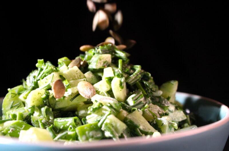 De groen, groener, groenste salade
