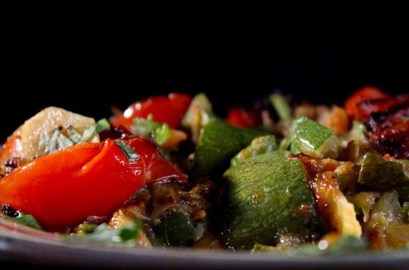 Courgette puree met tomaten