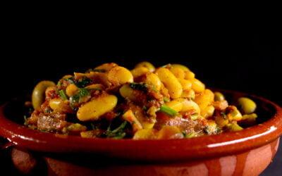 Moroccan spicy heartwarming white beans