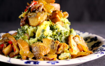 Kale with …. spicy mushrooms