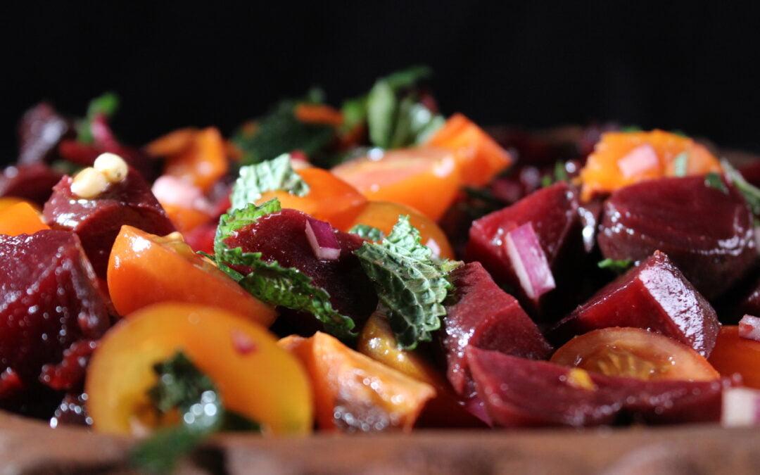 Palestinian beetroot salad