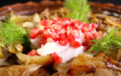 Persian caramelized fennel salad