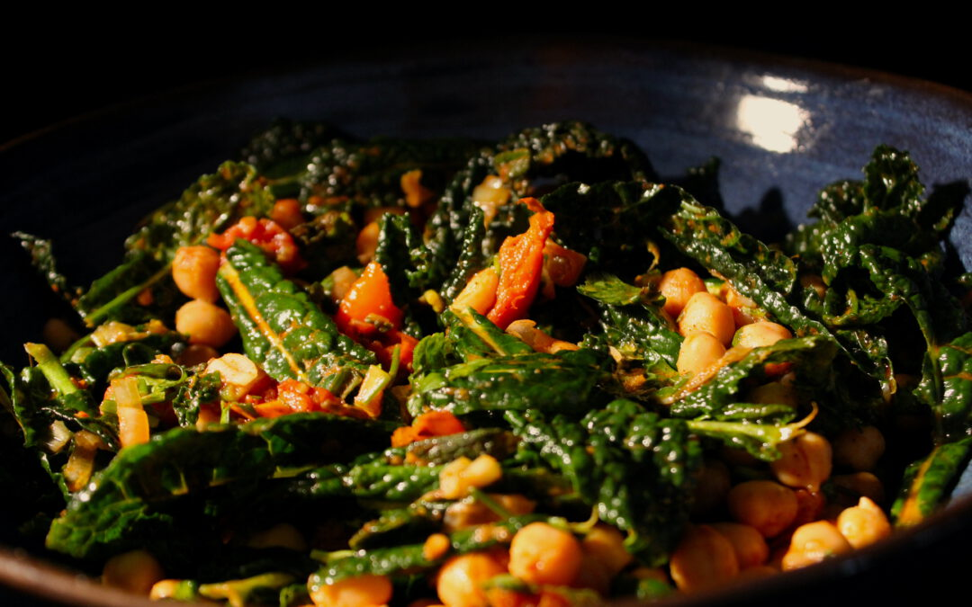 Palestinian cavolo nero salad from Ramsey