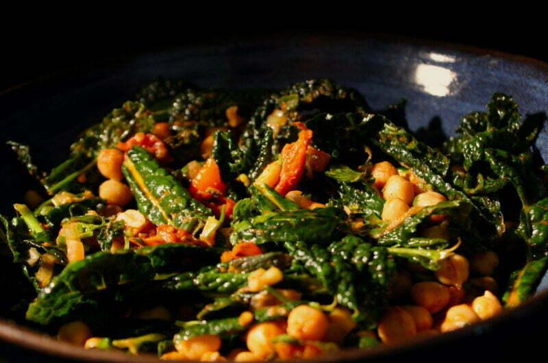 Palestinian cavolo nero salad from Ramsey