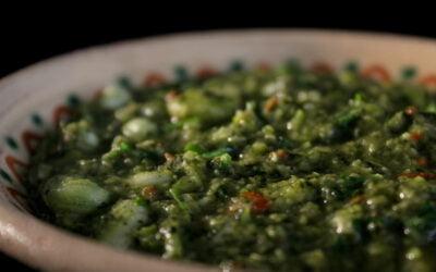 Molokhieh soep met tuinbonen