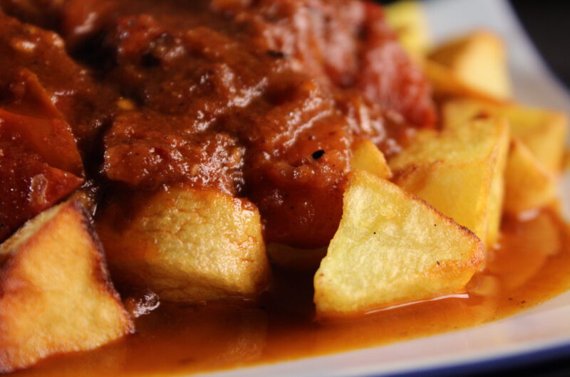 Batata in tomato sauce with Lebanese seven spices