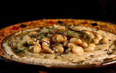 Lima bean puree with garlic aioli