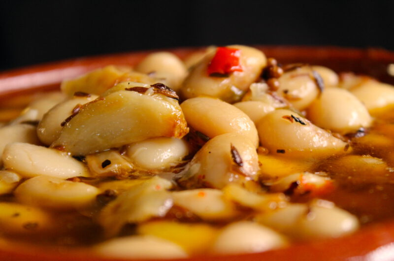 Lima beans in spicy and fresh oil