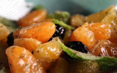 Clementinesalade met zwarte olijven