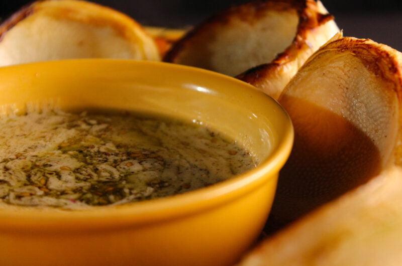 Grilled artichoke hearts with za'atar aioli