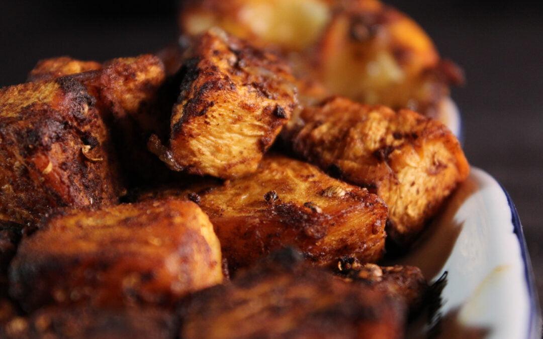 Kruidige knolselderij uit de oven