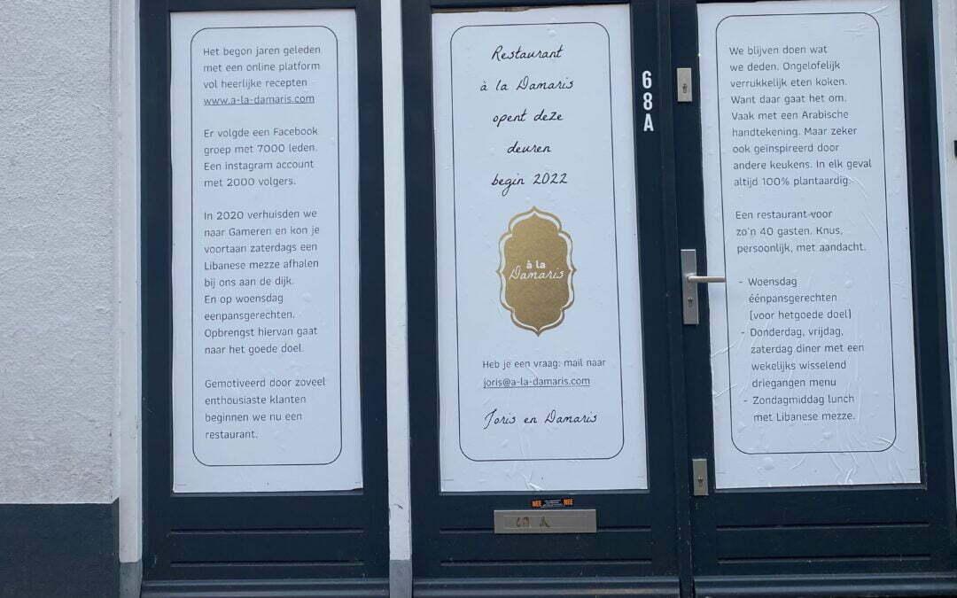 We openen een restaurant in Zaltbommel